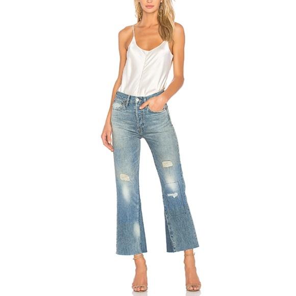 69ae93c4b221 Re Done Originals Leandra crop flare jeans 26